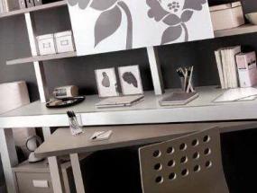 Libreria con scrivania estraibile
