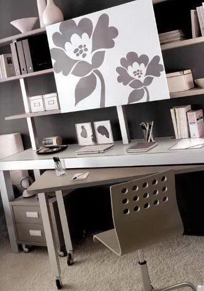 Libreria con scrivania estraibile - Pellegrino Arreda - Cucine ...